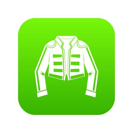 Costume of toreador icon digital green for any design isolated on white vector illustration