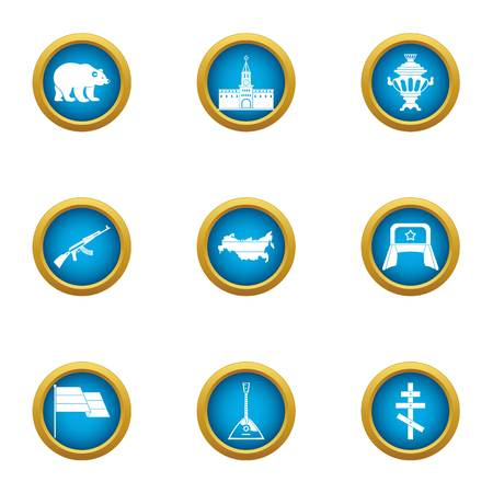 Russian citizen icons set. Flat set of 9 russian citizen vector icons for web isolated on white background