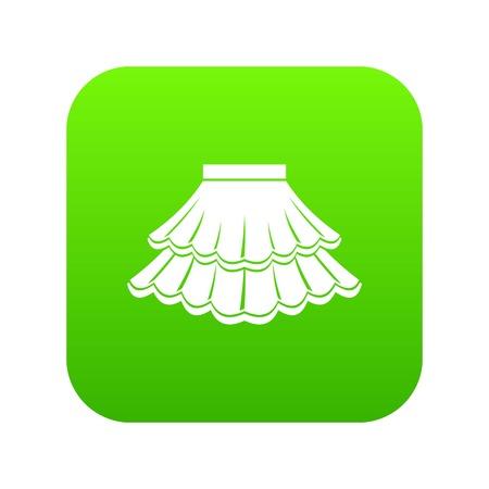 Skirt icon digital green Ilustración de vector