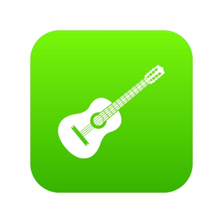 Guitar icon digital green for any design isolated on white vector illustration