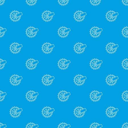 Mining cutting wheel pattern vector seamless blue