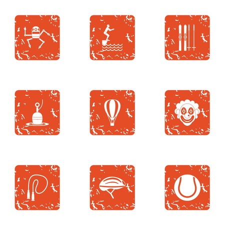 Physical academic icons set. Grunge set of 9 physical academic vector icons for web isolated on white background Illusztráció