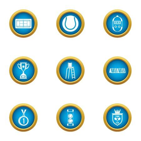 Hardball icons set. Flat set of 9 hardball vector icons for web isolated on white background