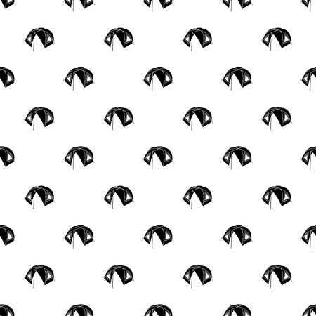 Tourist tent pattern vector seamless repeating for any web design