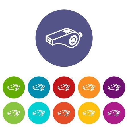 Icono de silbato Ilustración simple del icono de vector de silbato para web