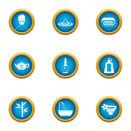 Society icons set. Flat set of 9 society vector icons for web isolated on white background