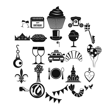 Banquet icons set. Simple set of 25 banquet vector icons for web isolated on white background