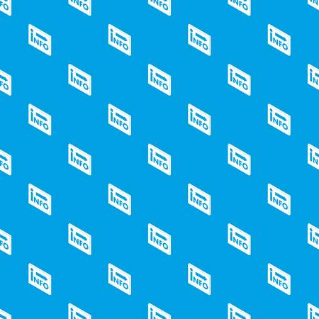 Market info pattern vector seamless blue repeat for any use