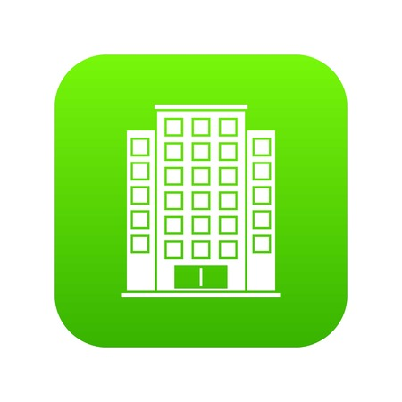 Skyscraper icon digital green