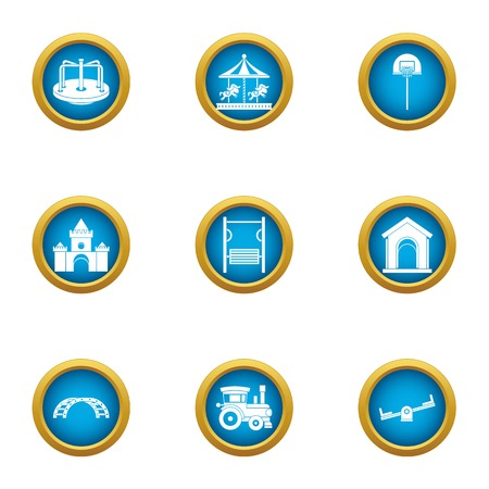 Chaff venue icons set. Flat set of 9 chaff venue vector icons for web isolated on white background