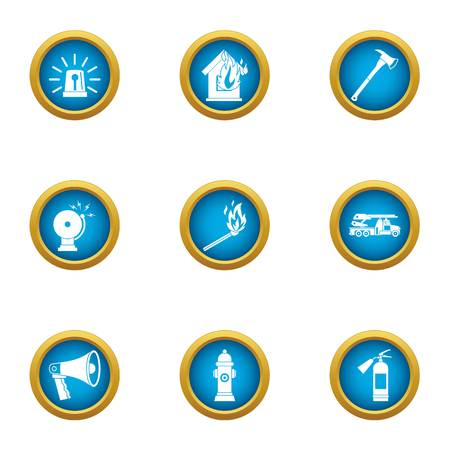 Announcement icons set. Flat set of 9 announcement vector icons for web isolated on white background