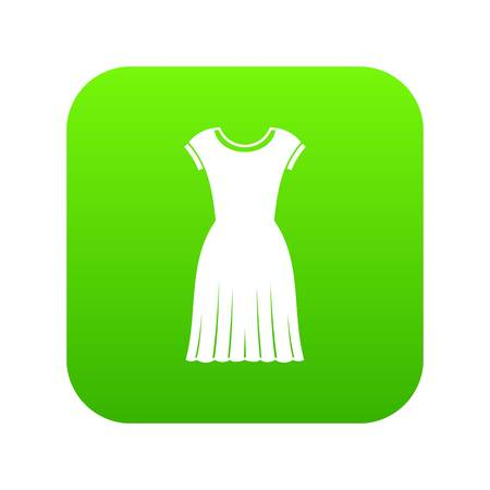 Woman dress icon digital green