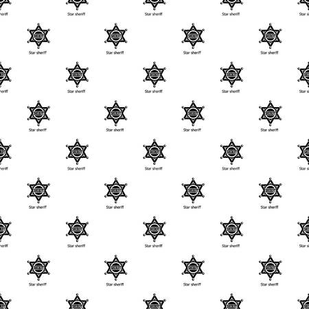 Star sheriff pattern vector seamless repeating for any web design