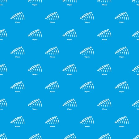 Wipers pattern vector seamless blue