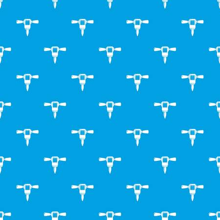 Mining hammer drill pattern vector seamless blue