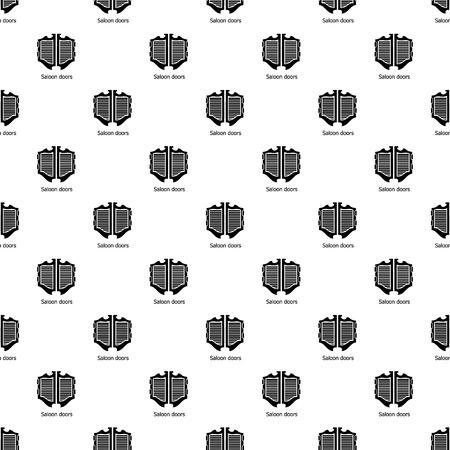 Modèle de porte de saloon répétant sans couture pour tout web design