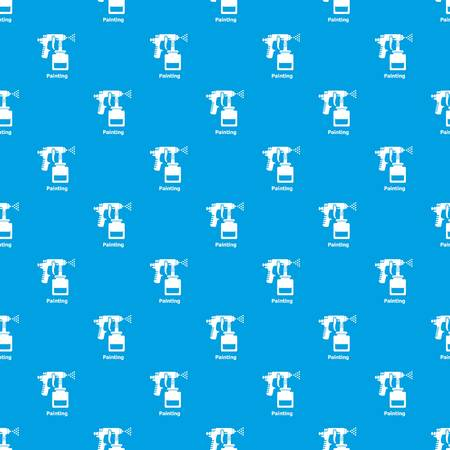 Spray gun pattern vector seamless blue repeat for any use