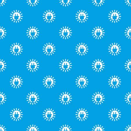 Unplugged electrical plug pattern vector seamless blue repeat for any use