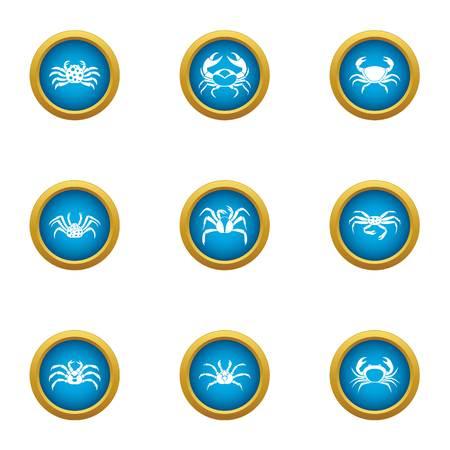 Multitape icons set. Flat set of 9 multitape vector icons for web isolated on white background