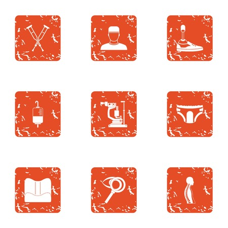 Straight back icons set. Grunge set of 9 straight back vector icons for web isolated on white background Archivio Fotografico - 130232889