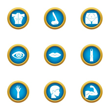 Relief icons set. Flat set of 9 relief vector icons for web isolated on white background