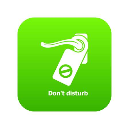 Do not disturb icon green vector