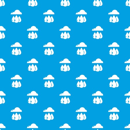Rain weather pattern vector seamless blue repeat for any use