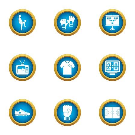 Training area icons set. Flat set of 9 training area vector icons for web isolated on white background