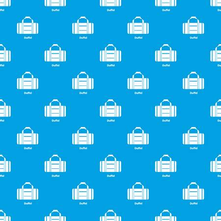 Duffel pattern vector seamless blue repeat for any use