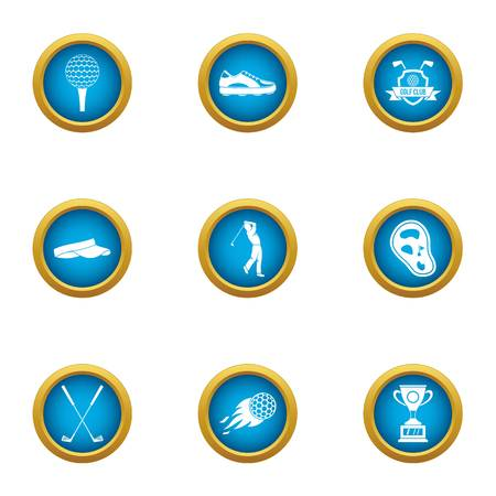 Honor sport icons set. Flat set of 9 honor sport vector icons for web isolated on white background Illusztráció