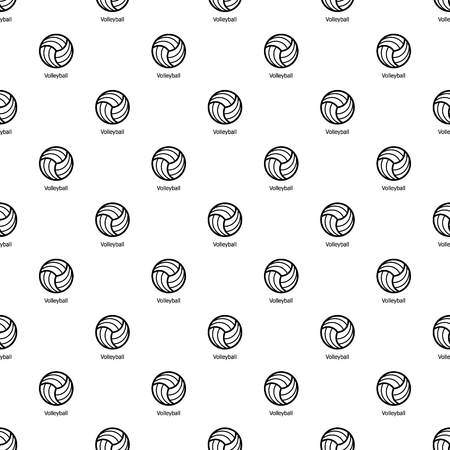 Volleyball pattern vector seamless repeating for any web design