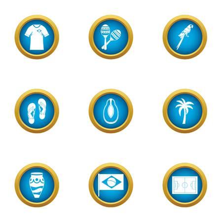Brasilia stay icons set. Flat set of 9 brasilia stay vector icons for web isolated on white background