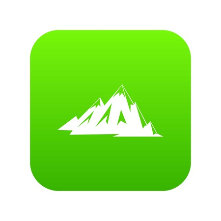 Canadian mountains icon digital green for any design isolated on white vector illustration