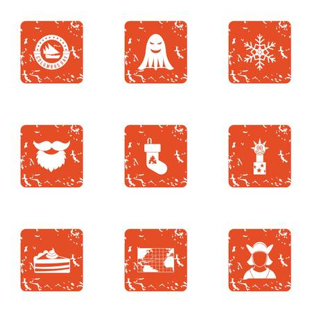 Government icons set. Grunge set of 9 government vector icons for web isolated on white background