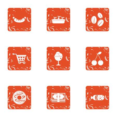 Acquisition icons set. Grunge set of 9 acquisition vector icons for web isolated on white background