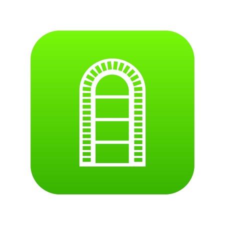 Narrow window frame icon green vector
