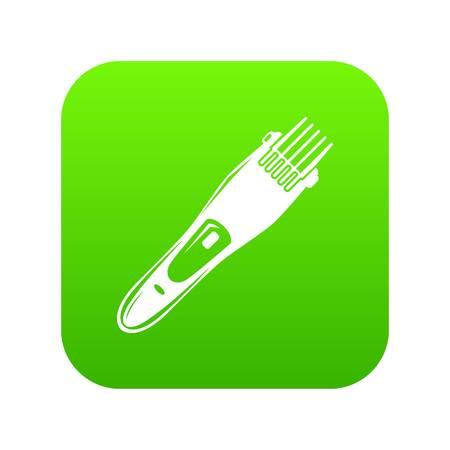 Electric hair clipper icon green vector