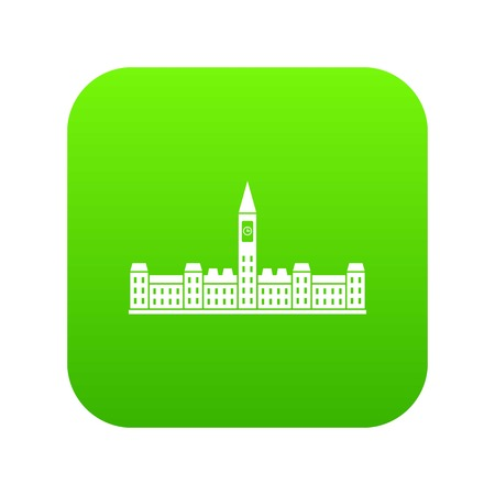 Parliament Building of Canada icon digital green for any design isolated on white vector illustration Иллюстрация