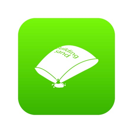 Sand bag icon green vector Иллюстрация