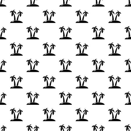 Tropical island pattern vector seamless repeating for any web design