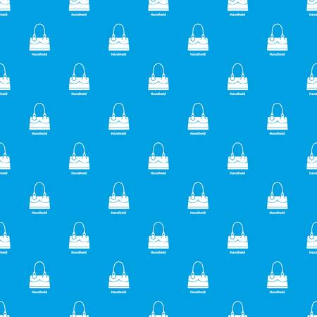 Handheld bag pattern vector seamless blue repeat for any use