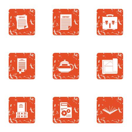 Compromise solution icons set. Grunge set of 9 compromise solution vector icons for web isolated on white background