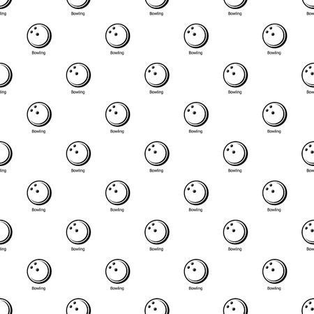 Bowling ball pattern vector seamless repeating for any web design