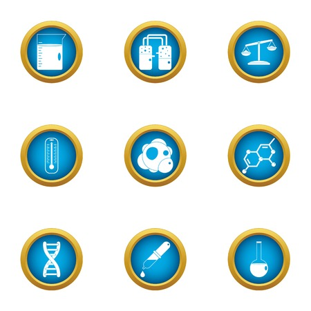 Genome icons set. Flat set of 9 genome vector icons for web isolated on white background Ilustração