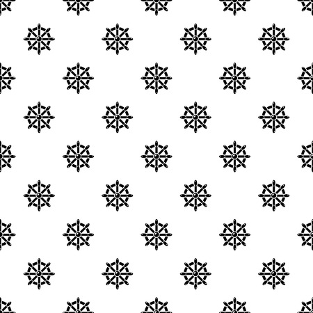 Handwheel pattern vector seamless