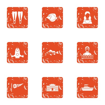 Bachelor party icons set. Grunge set of 9 bachelor party vector icons for web isolated on white background