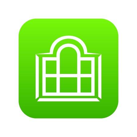 Beautiful window frame icon green vector