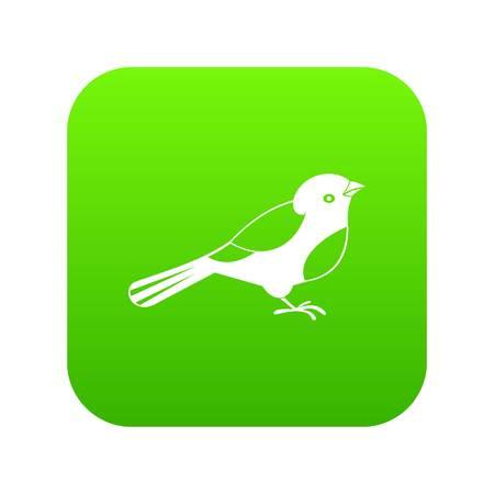 Bird icon digital green