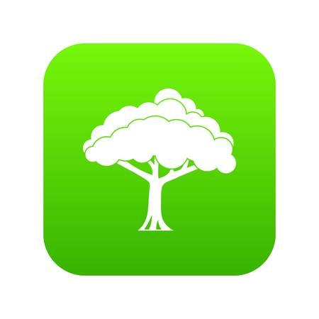 Tree icon digital green