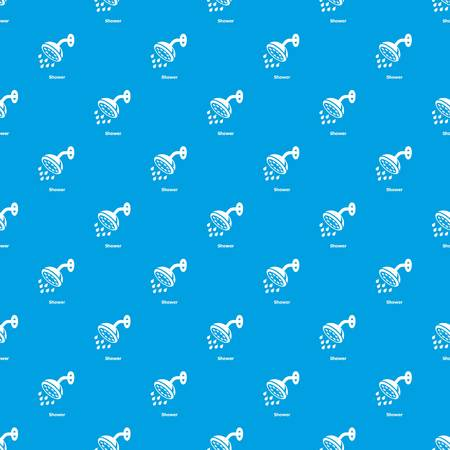 Shower pattern vector seamless blue repeat for any use